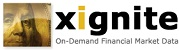 Xignite API Integration to get the latest stock market data for financial analysis, plot using Fusion Charts etc.